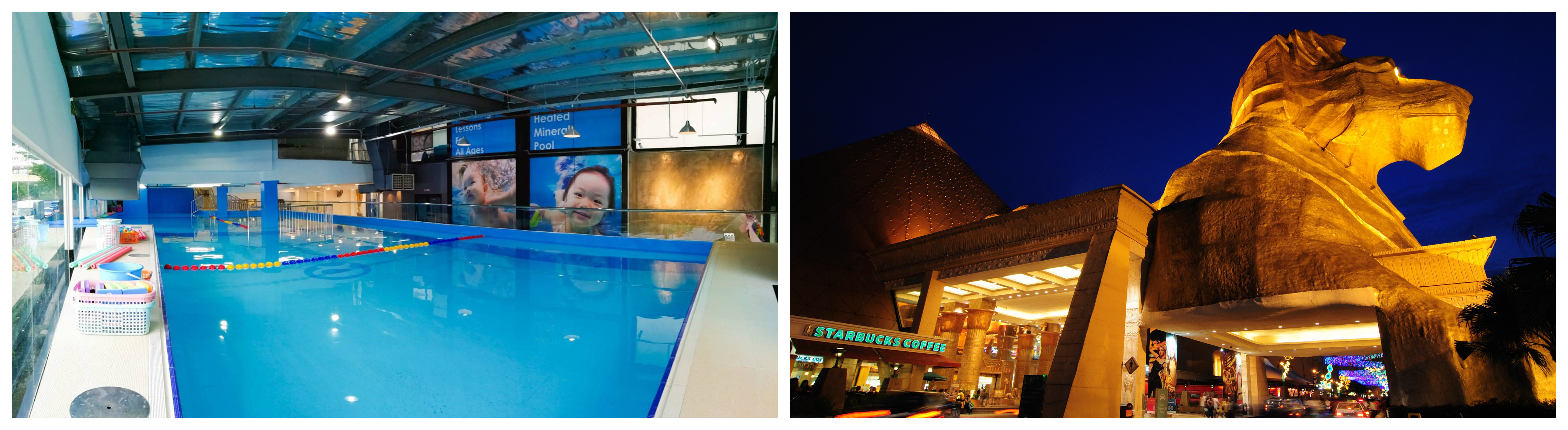swimming lesson in sunway pyramid